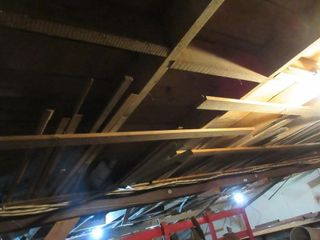lOT  UNATTACHED MATERIAl IN RAFTERS
