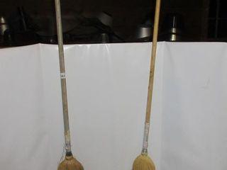 2 CORN BROOMS