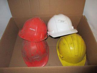 4 HARD HATS