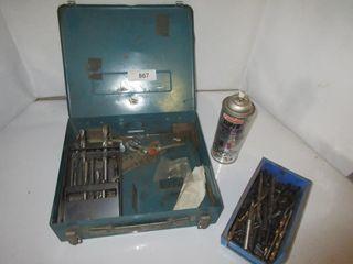 lOT  BlUE METAl BOX  DRIll BITS  MISC