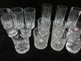 CRYSTAl GlASSES   ASSORTED PATTERNS