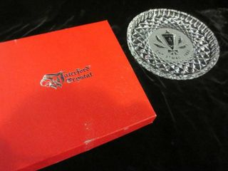 WATERFORD CRYSTAl CHRISTMAS 1984 PlATE IN BOX