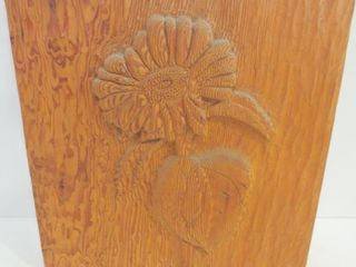 SUNFlOWER  WOOD CARVING   SIGNED   12 X 12