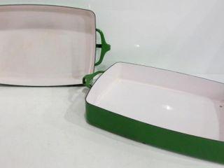 DANSK KOBENSTYlE 10 X 13 KEllY GREEN lASAGNA PAN