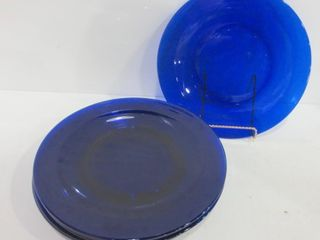 SET OF 8 COBAlT BlUE CHARGERS