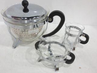 BODUM TEA SET WITH CREAM AND SUGAR