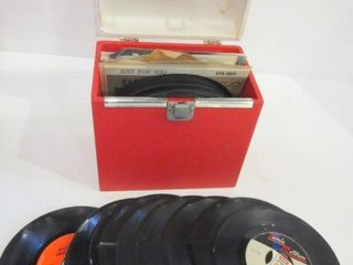 45 RPM RECORDS IN CASE