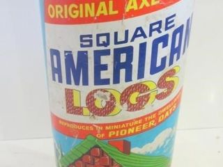 HAlSAM ORIGINAl AXE HEWN SQUARE AMERICAN TOY lOGS
