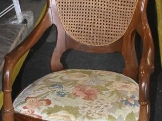 CANE BACK ROCKING CHAIR W  FlORAl SEAT