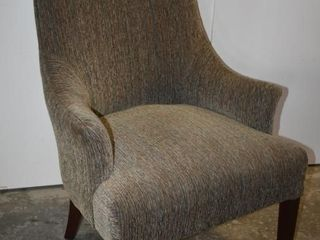 UPHOlSTERED WINGBACK CHAIR  GREY TONES