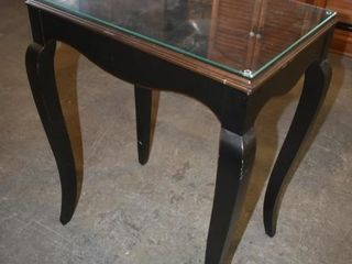 BOMBAY SIDETABlE W  GlASS TOP