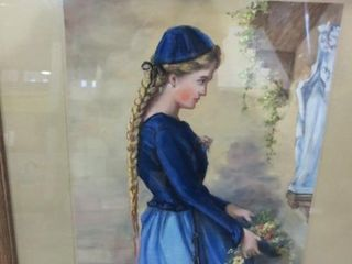 PASTEl OF YOUNG WOMAN   21 X 28 H
