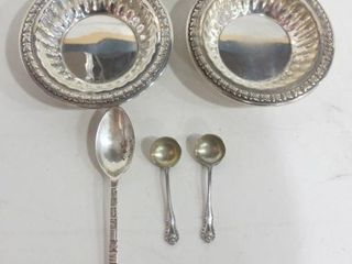 STERlING SAlTERS AND SPOONS