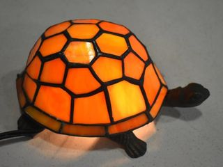 STAINED GlASS   BRASS TURTlE lAMP  8 5  W