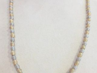 GIlDED AND SIlVER METAl BEAD NECKlACE   EACH BEAD