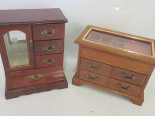 PAIR OF JEWElRY BOXES