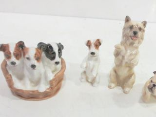 ROYAl DOUlTON DOG FIGURINES   TAllEST 4 H