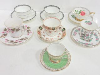 TEACUPS AND SAUCERS  6  DEMI TASSE CUP AND SAUCER
