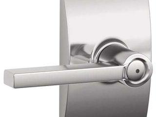 Schlage latitude Privacy Door lever Set With Decorative Century Trim