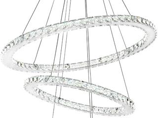 SIlJOY Three Rings Chandelier lighting K9 Crystal Ceiling light Fixture