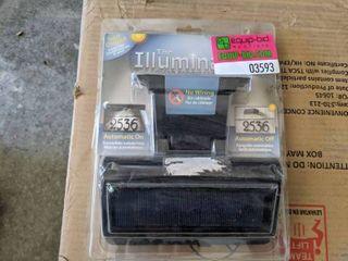 The Illuminator Solar Address label