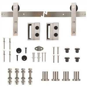 Everbilt 72 in  Stainless Steel Sliding Barn Door Track and Hardware Kit   MSRP  159 00