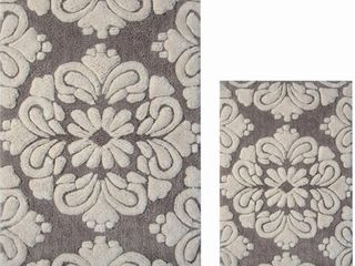 Better Trends Medallion Collection 2 Piece Set 100  Cotton Tufted Bath Mat Rug Set RETAIl  35 99
