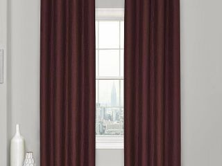 Clara 52  x 84  Window Eclipse Thermaweave Blackout Window Curtain MERlOT RETAIl  18 20