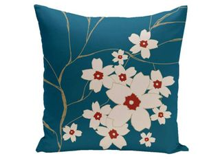16 x 16 inch Floral Print Outdoor Pillow Blue  39 99