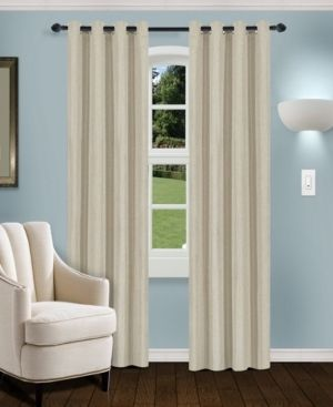 Impressions Swann Blackout Curtain Panel Set with Grommet Header RETAIl  42 99