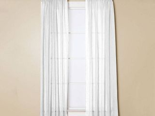 Miller Curtains Preston 95 inch Rod Pocket Sheer Curtain Panel RETail 30 99