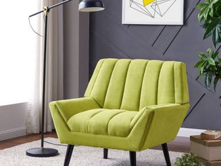 Carson Carrington Mariager Mid century Modern Green Velvet Arm Chair Retail 389 99