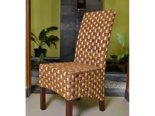 International Caravan Manila Abaca Mahogany Dining Chair Retail 129 49