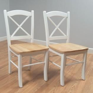 Simple living Country Cottage Dining Chair  Set of 2  Retail 118 49