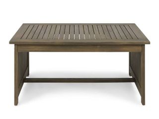 Carolina Outdoor Acacia Wood Coffee Table by Christopher Knight Home RETAIl  157 49