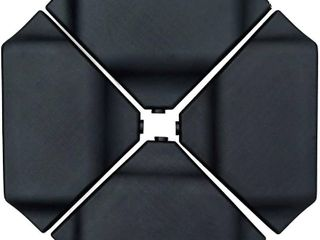 Abba Patio Cantilever Offset Umbrella Base Plate Set Heavy Duty Weights 260lbs  Pack of 4  Black RETAIl 139 99