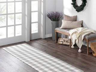 The Gray Barn Montacute Buffalo Check Woven Kitchen Runner Rug   29 x96  RETAIl 66 99
