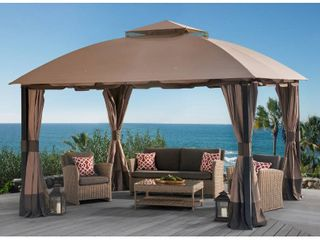 Sunjoy Original Manufacturer Replacement Canopy for South Hampton Gazebo  11 x13  Model l GZ659PST Retail 122 99