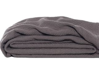 Eddie Bauer Herringbone Cotton Blanket RETAIl  33 41