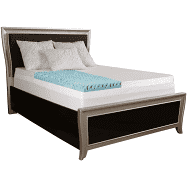 Simmons Curv 4 inch Sculpted Gel Memory Foam Mattress Topper with Polysilk Cover Retail 118 49 queen