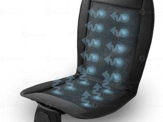 Zone Tech Cooling Car Seat Cushion   Black 12V Automotive Adjustable Temperature Comfortable Cooling Car Seat Cushio