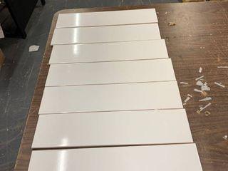 Ceramic Tile  3 94 x 15 75in  Qty 7