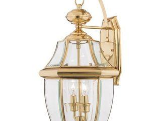 Quoizel NY8317B Newbury 2 light Outdoor Wall lantern  Polished Brass