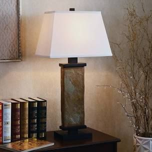 Copper Grove Papineau 29 inch Natural Slate Table lamp