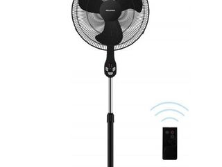 PElONIS FS45 18UR 18  3 Speed Oscillating Pedestal Fan with lED Display  Black