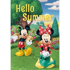 Disney Hello Summer   Garden Flag