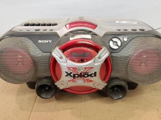 Sony Xplod Boombox CD Tape Fm 3 5mm input
