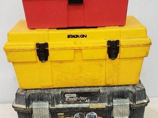 Tool Boxes  3 Total