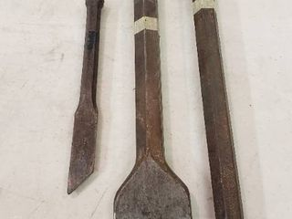 Steel Chisels  Total of 3