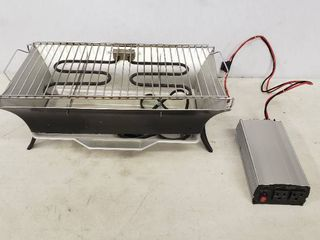 Electric Grill with Power Converter